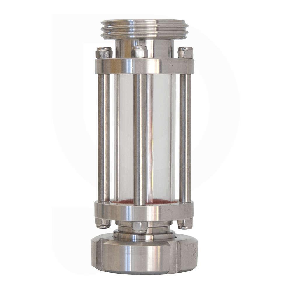 Mirilla lineal soldable de acero inoxidable AISI 304 DIN 32 M