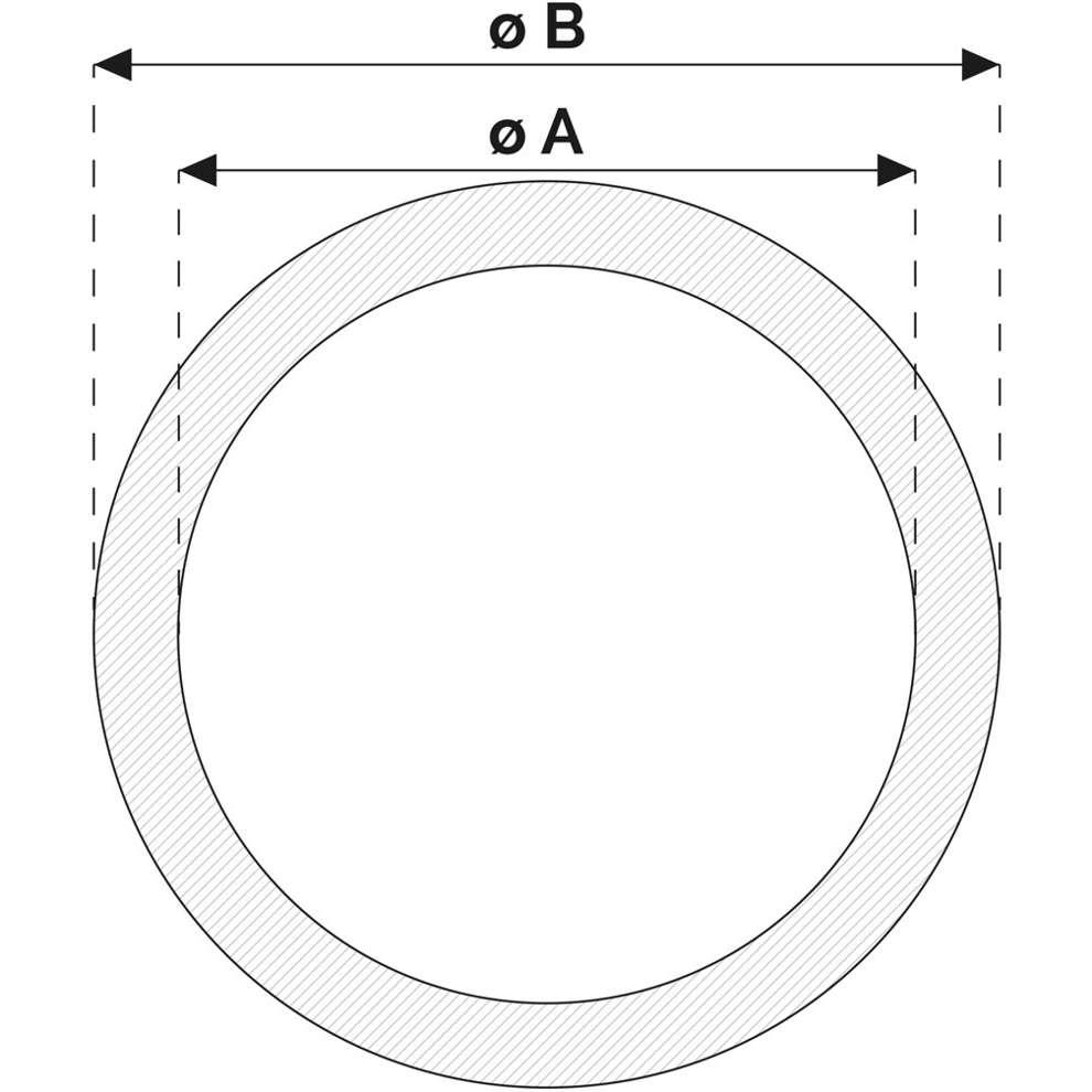 Non toxique tube cristal ø 14 (1 m)