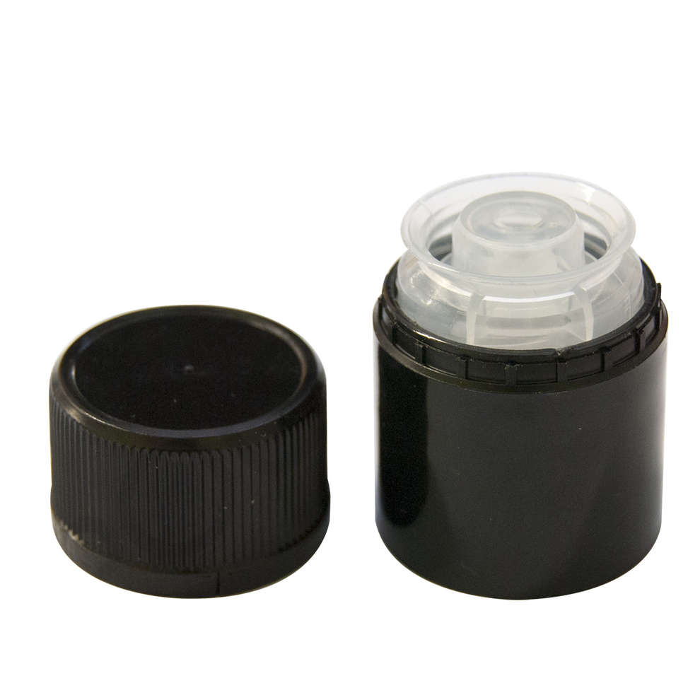 Not refillable Black cap for Bottle Reginolio (100 pcs)