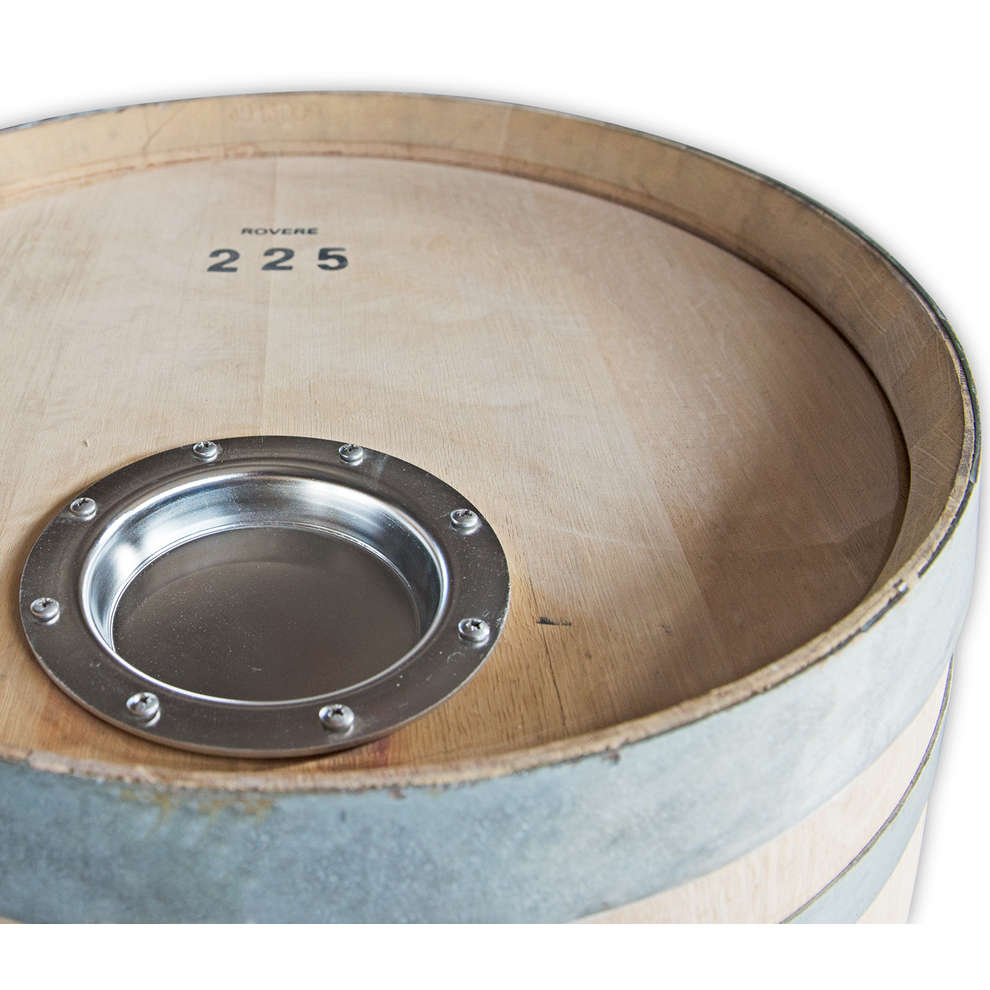 Oak barrel with stainless steel manhole 225 L