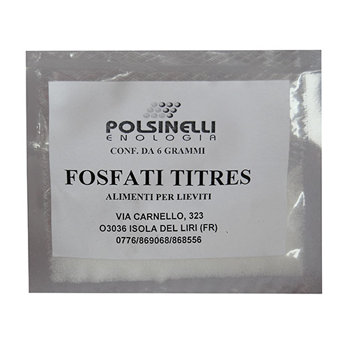 Phosphates titres for champagne (6 g)