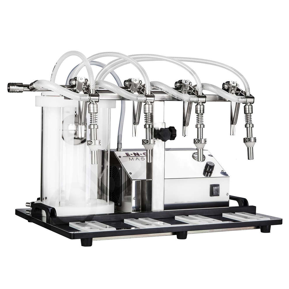 Pneumatic Enolmaster filling machine with pyrex vessel