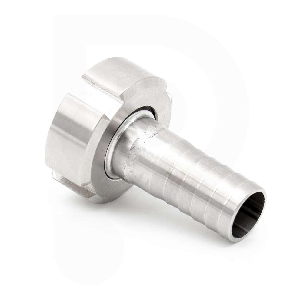 Portagomma inox DIN 15 M c/girello per PG 20