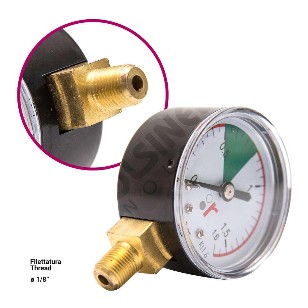 "Pressure gauge 1/8"" pour floating lid pump"