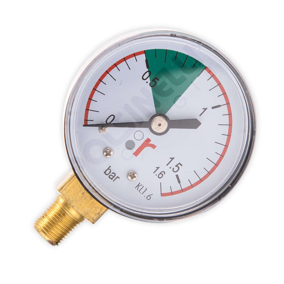Pressure gauge pour floating lid pump
