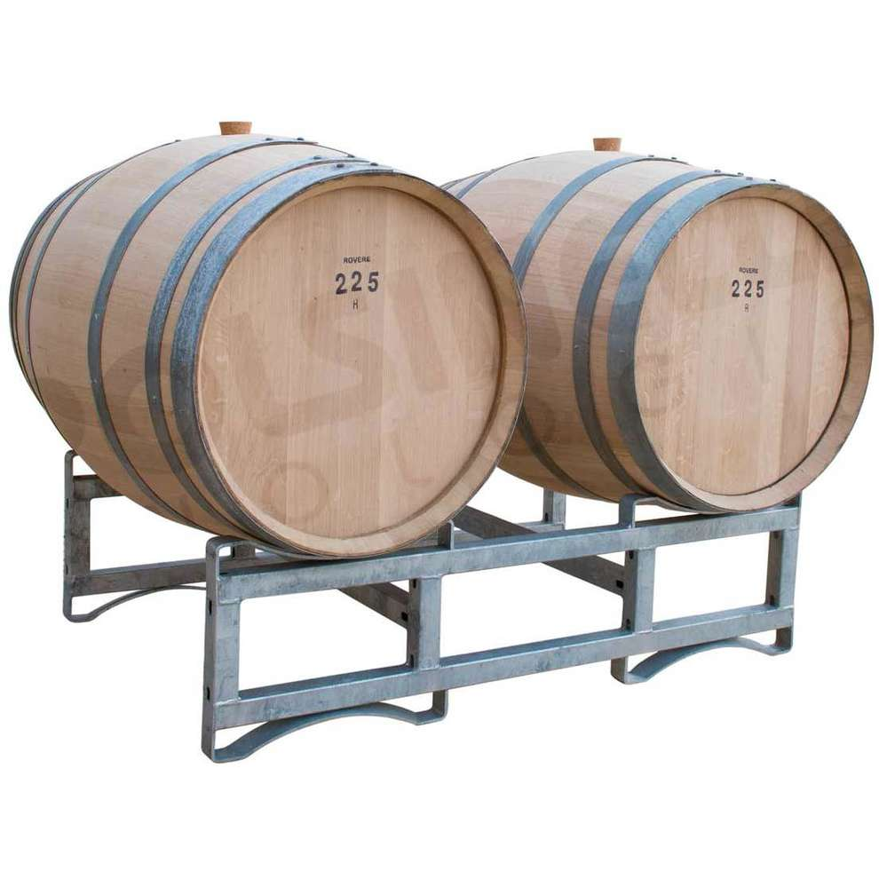 Rack system for barrels