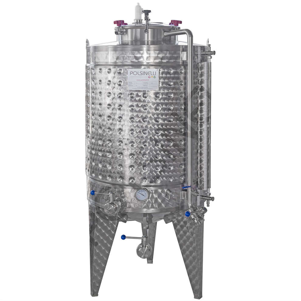 Refrigerated fermenter with conical bottom 750 L