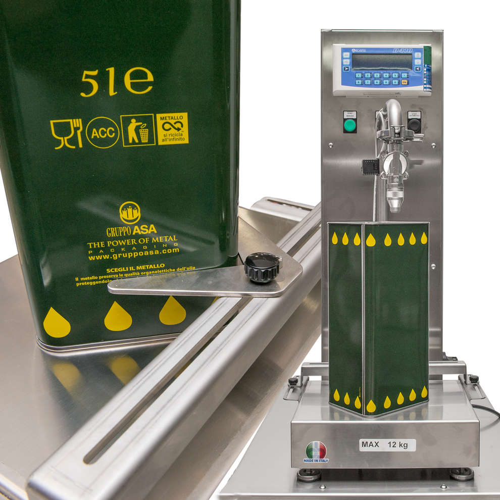 Remplisseuse/peseuse pour canettes Olea M12
