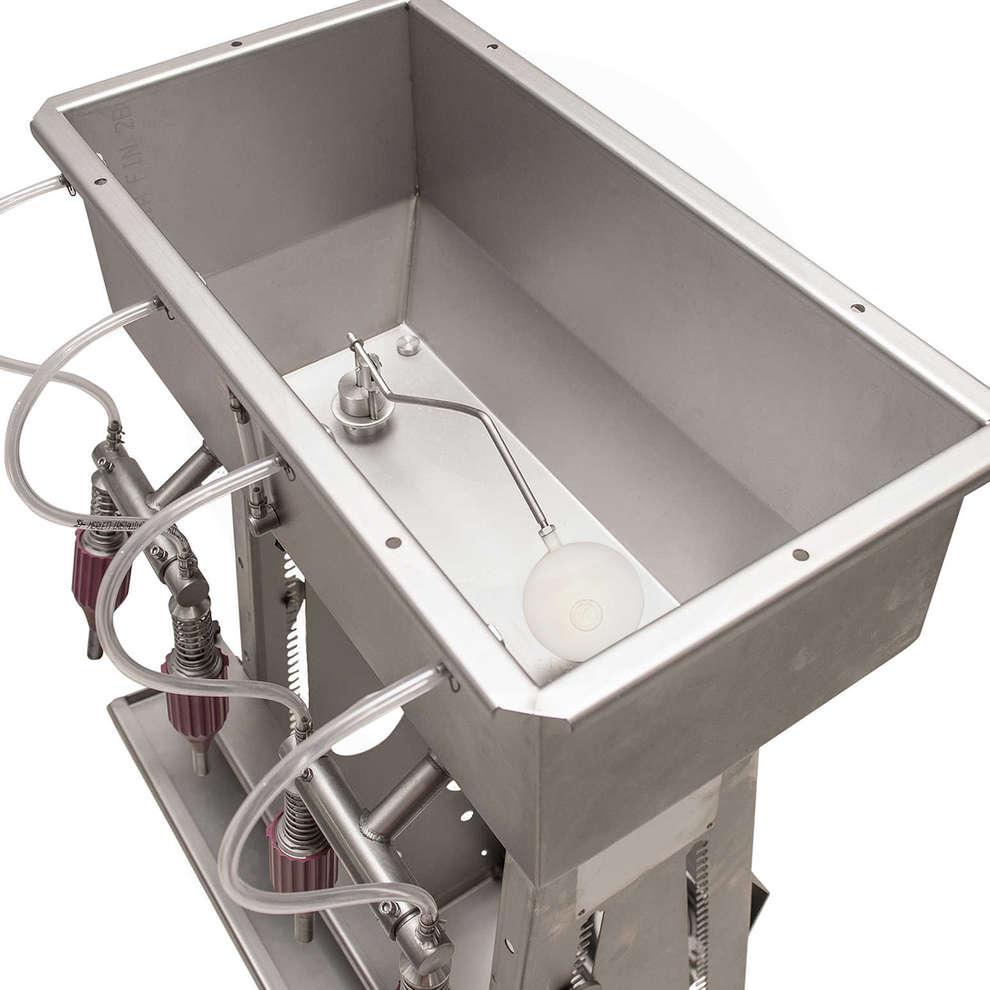 Riempitrice inox Cad 4 alta con galleggiante