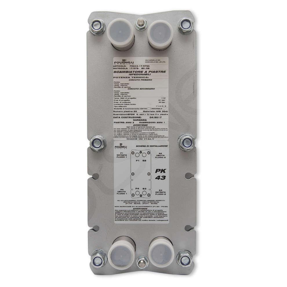Scambiatore di calore a 30 piastre ispezionabili Maxi 43
