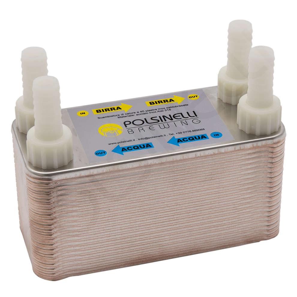Scambiatore di calore a 40 piastre saldobrasate