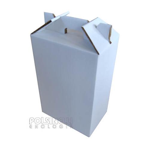 Scatola per bottiglie bianca 6 posti (10 pz)