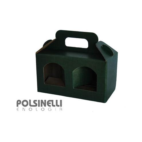 Scatola verde per 2 vasetti da 212 mL (10 pz)