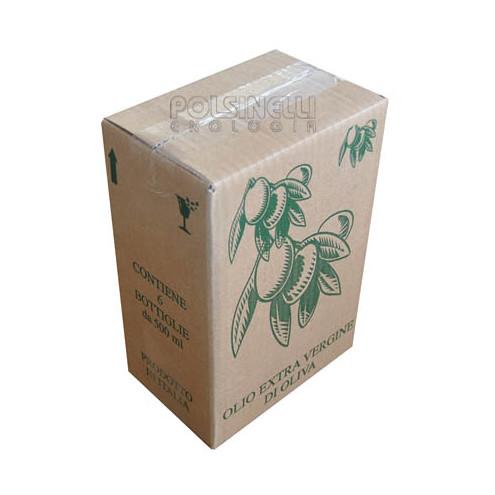 Schachtel für 6 Flaschen Marasca von 500 mL (St.10)