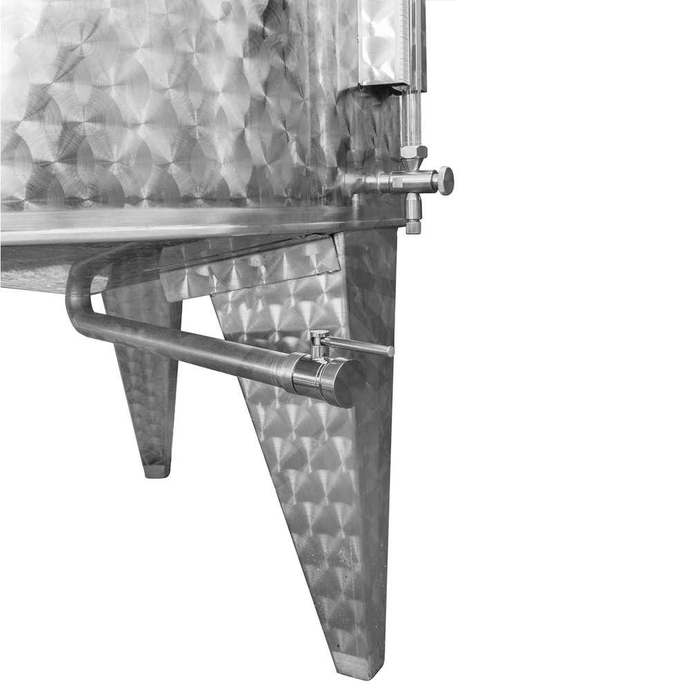 Serbatoio inox 1000 L da stoccaggio con portella