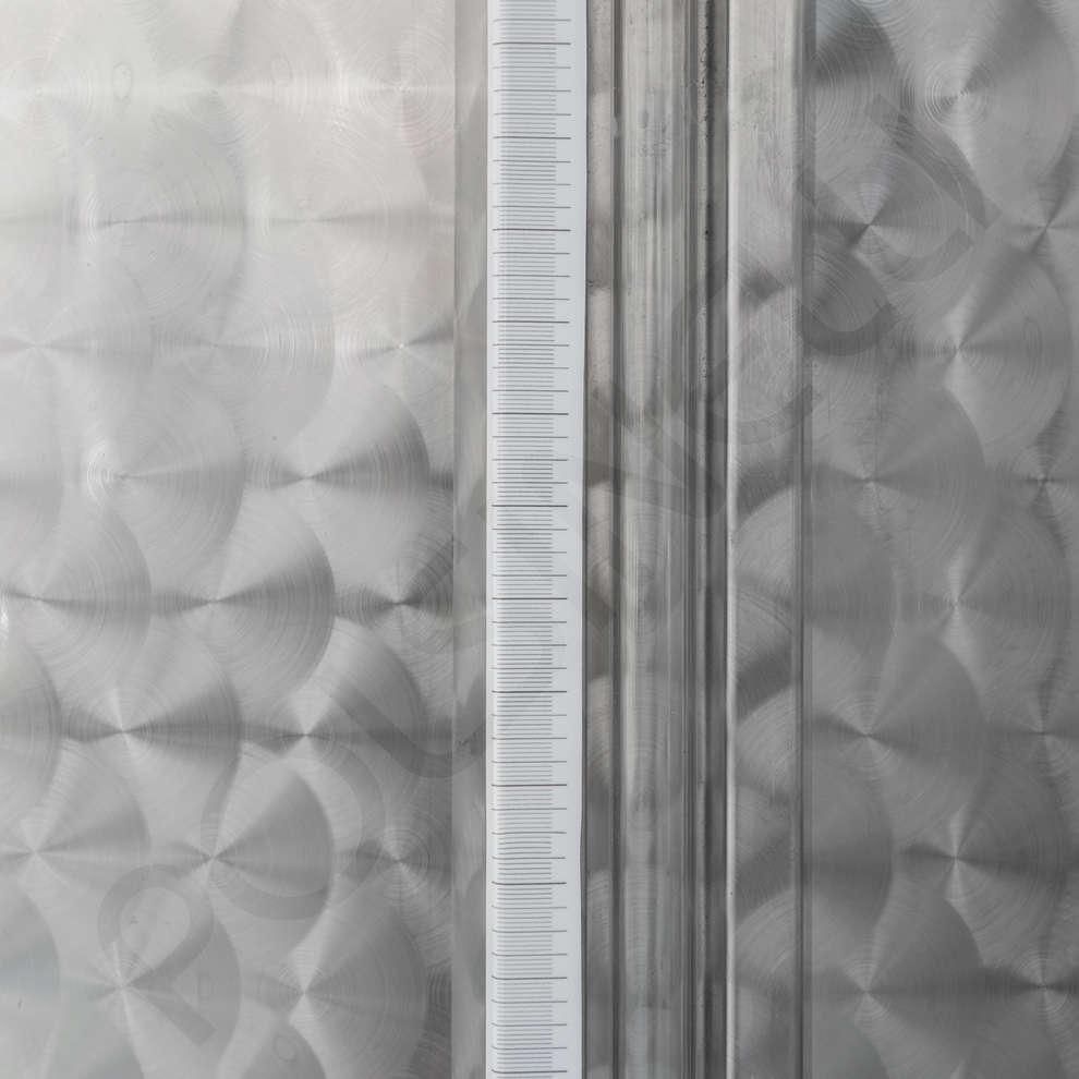Serbatoio inox 1500 L da stoccaggio fondo conico refrigerato con portella