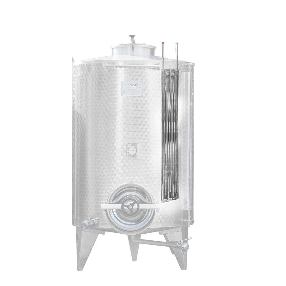 Serbatoio inox 1500 L da stoccaggio refrigerato