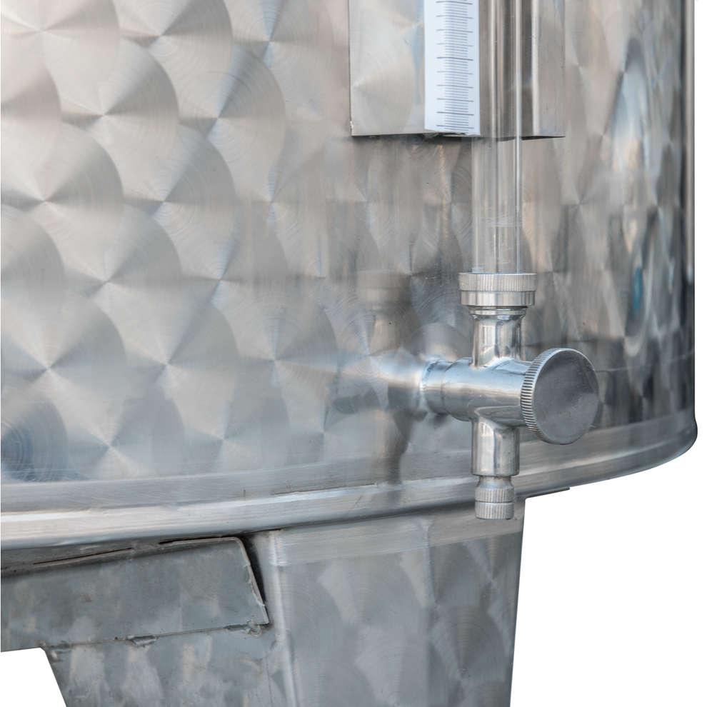 Serbatoio inox 3600 L da stoccaggio fondo conico refrigerato con portella