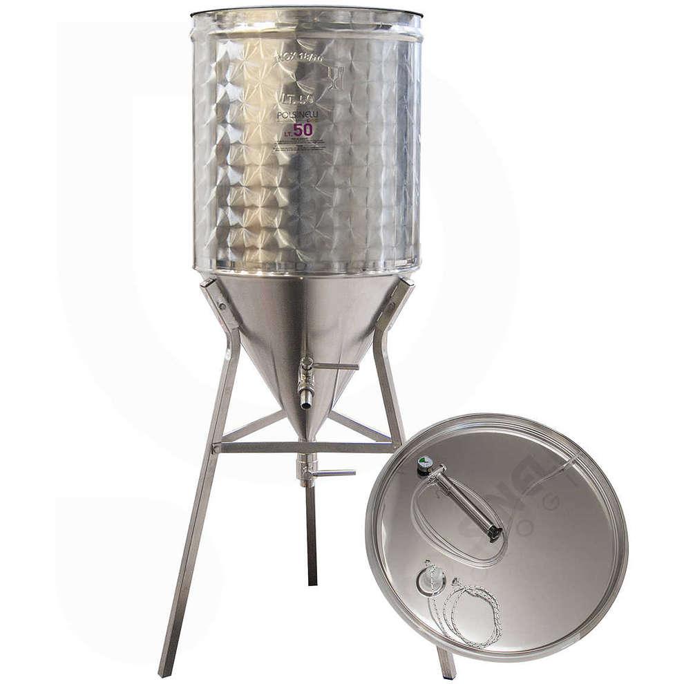 Serbatoio inox CONICO 60° per vino ad aria 50 L