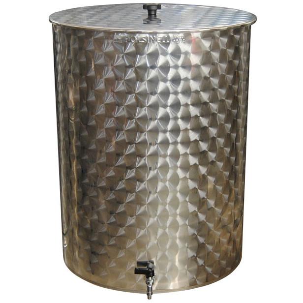 Serbatoio inox per olio da 200 L