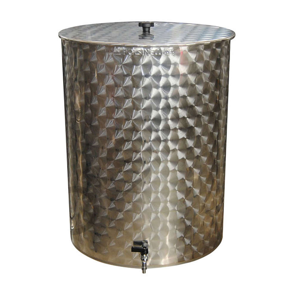 Serbatoio inox per olio da 35 L