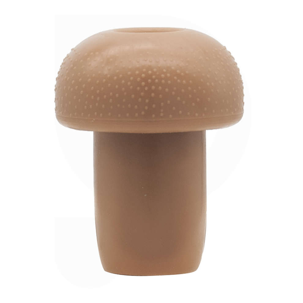 Smooth brown mushroom stopper