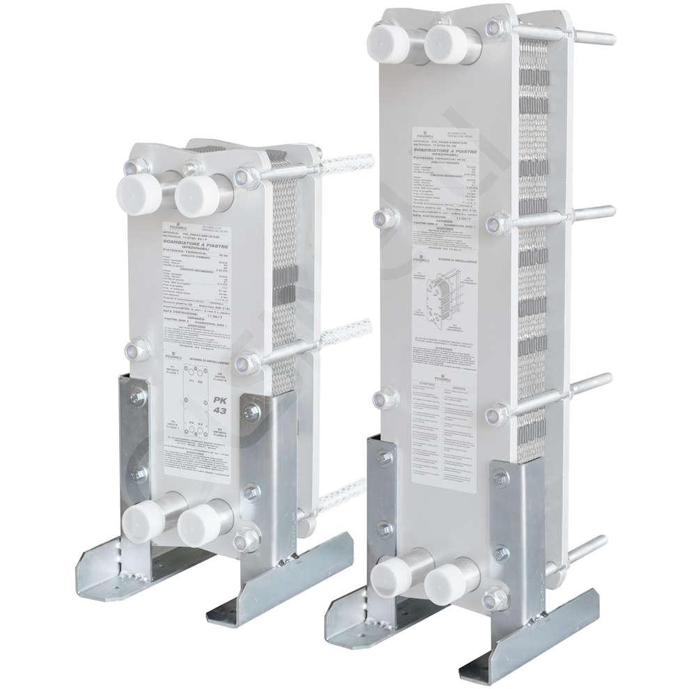 Soportes de fijación para intercambiador de calor
