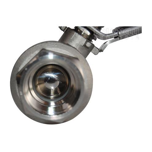 "Stainless steel ball valve 1"" F / F"