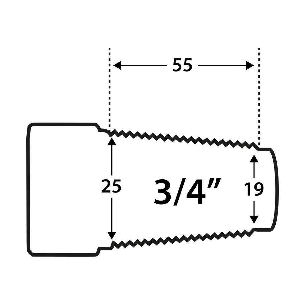"""Stainless Steel conical connection for barrels 3/4""""F"""