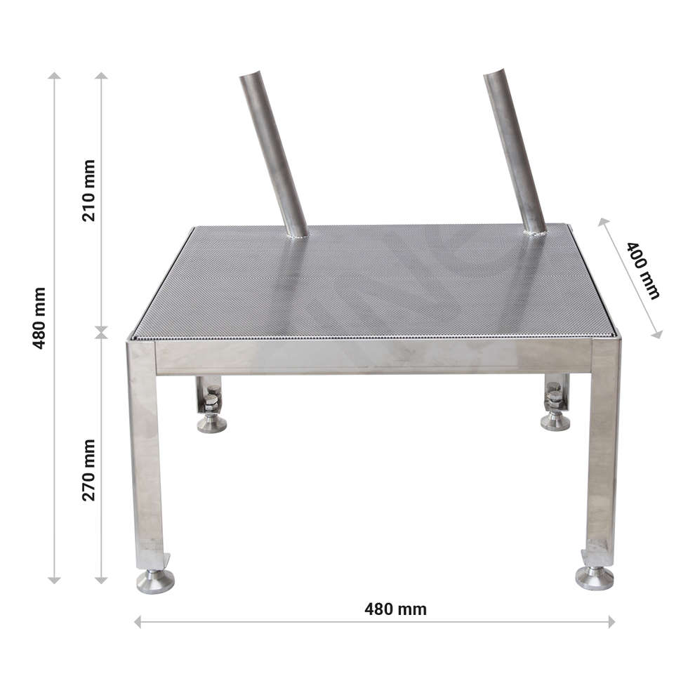 Stainless steel drip shelf 2 places