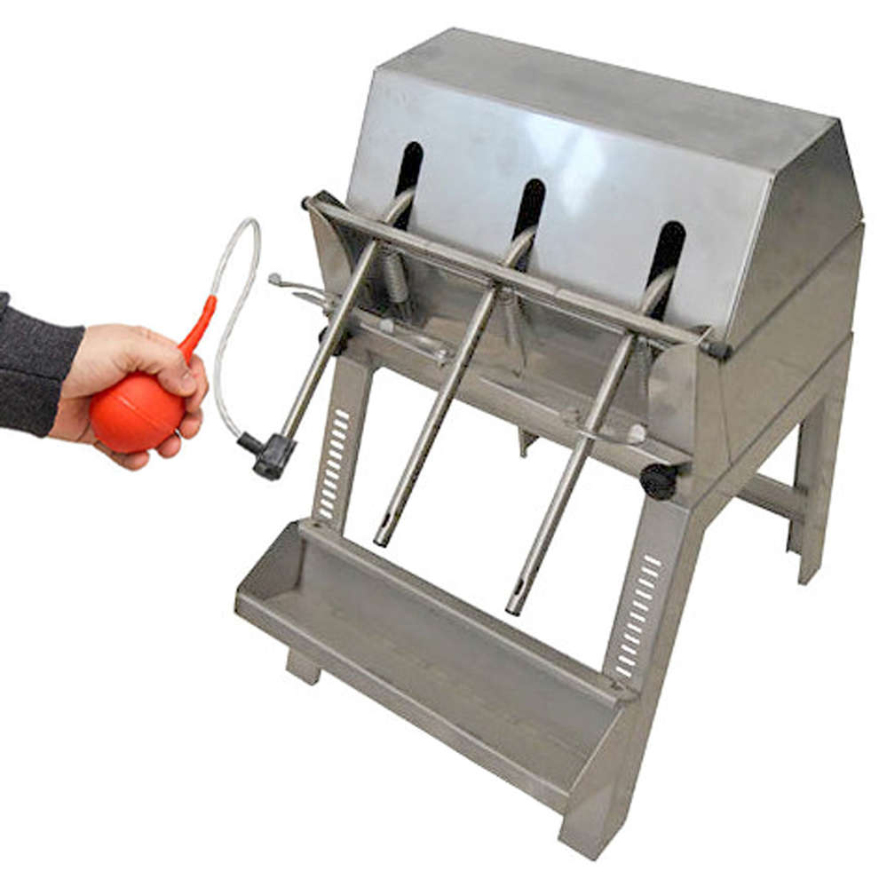 Stainless steel filling machine with 3 siphons