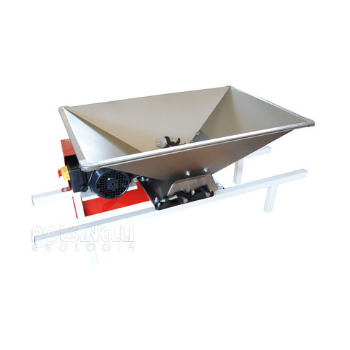 Stainless steel fruit crusher type D by electric motor