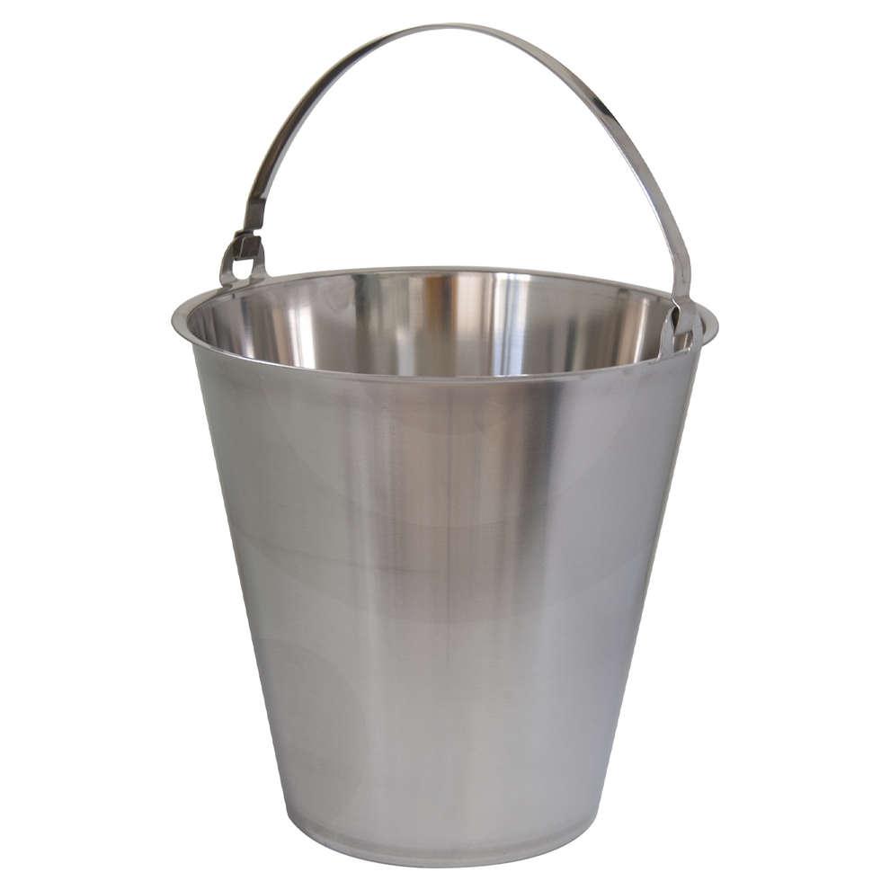 Stainless steel graded bucket 10 liters