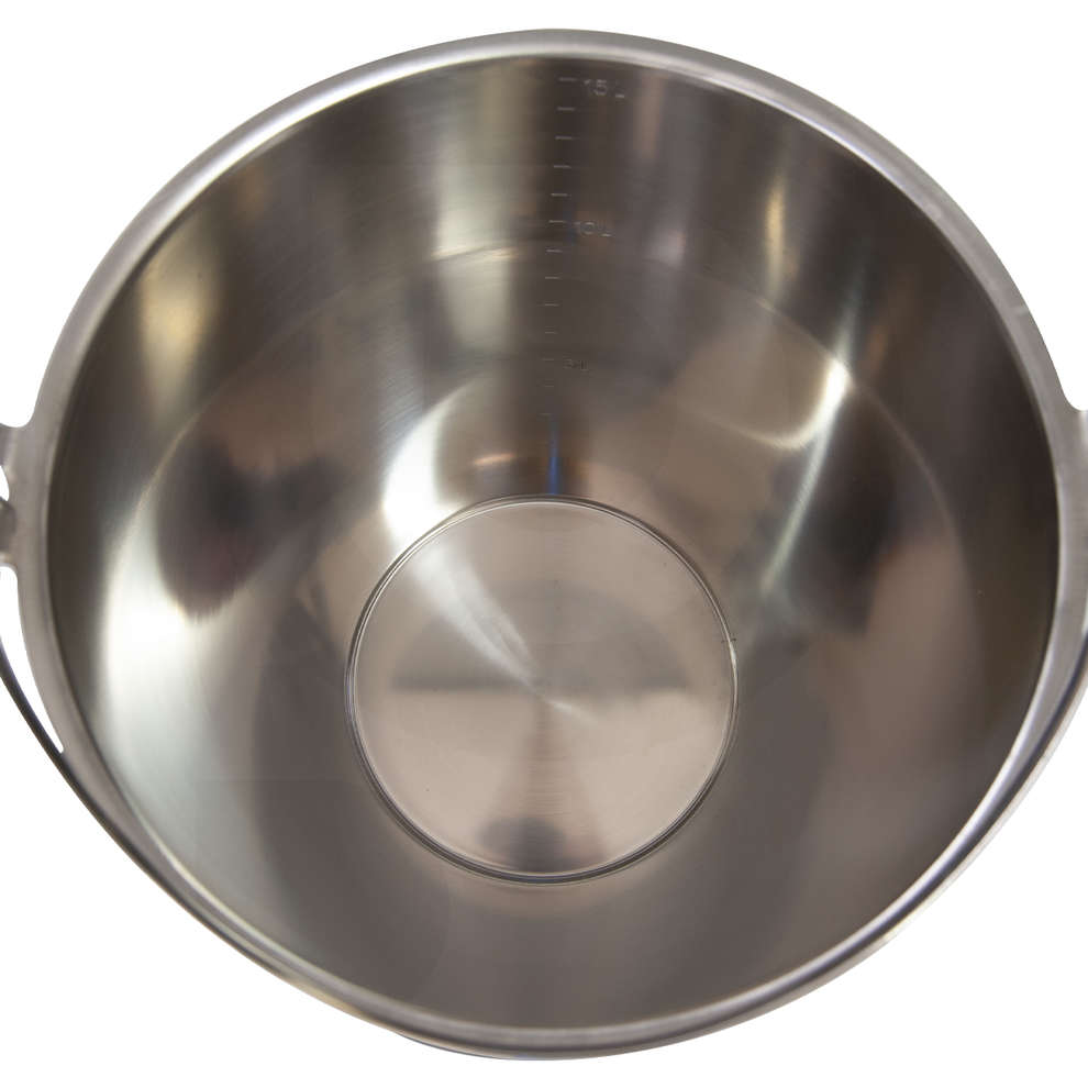 Stainless steel graded bucket 12 liters