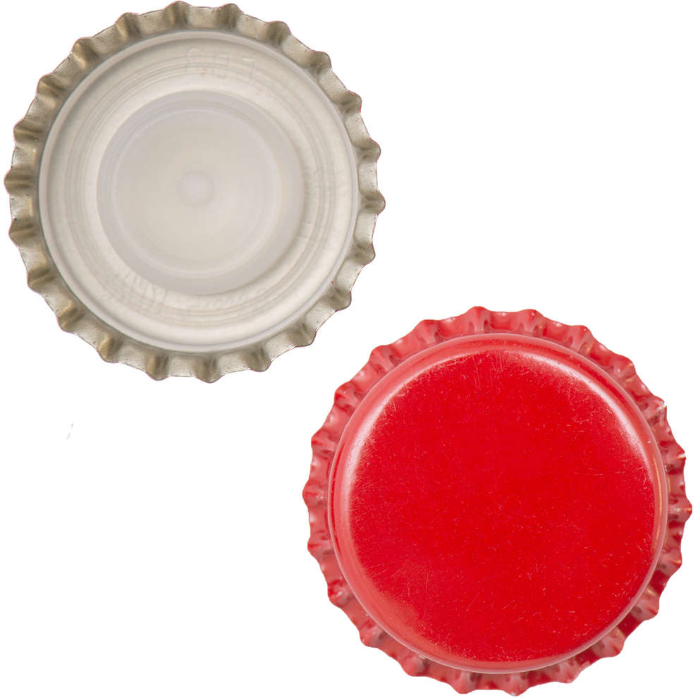 Tapón corona con tapa interior ⌀29 rojo (200 PC)