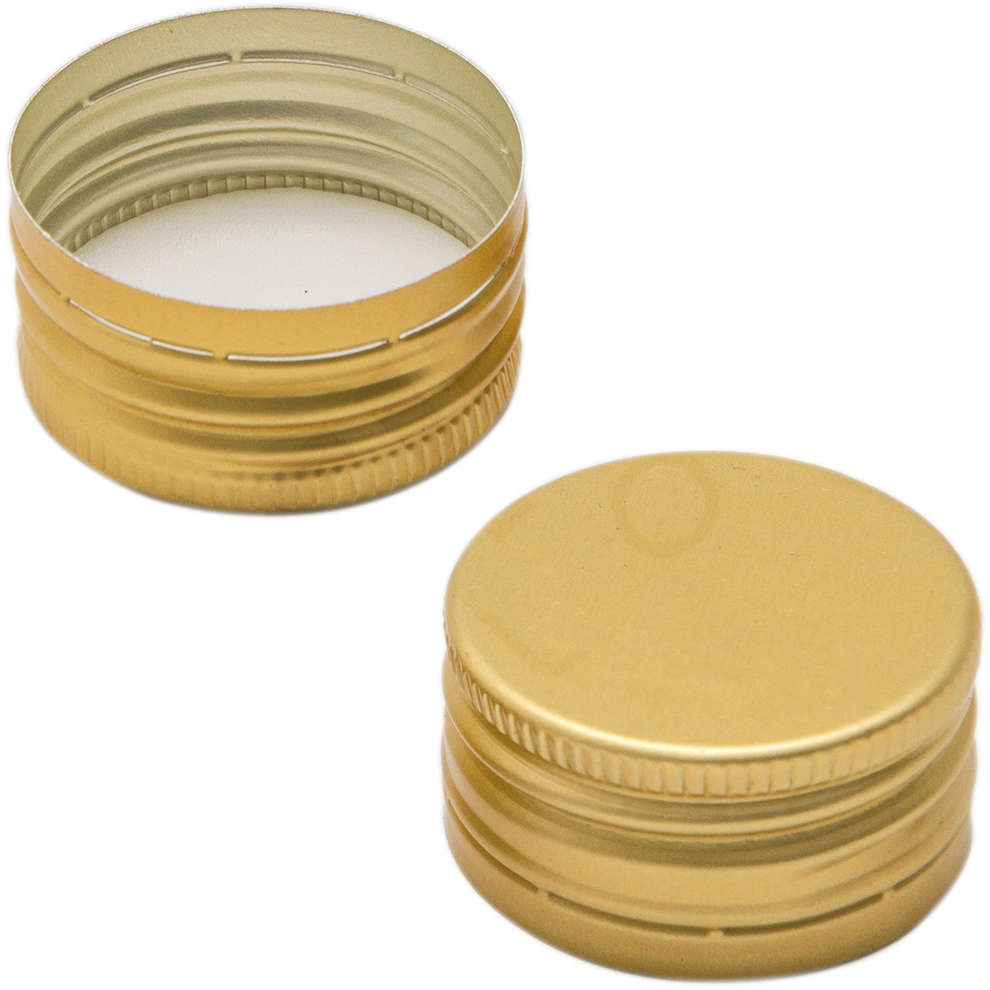 Tapón de rosca dorado ⌀31,5 (100 pzas)