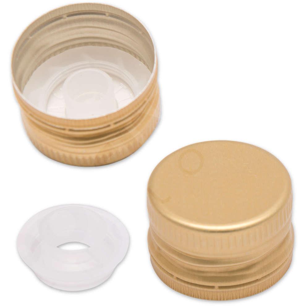 Tapón de rosca pre-roscado con salvagotas dorado ⌀35 (100 pzas)