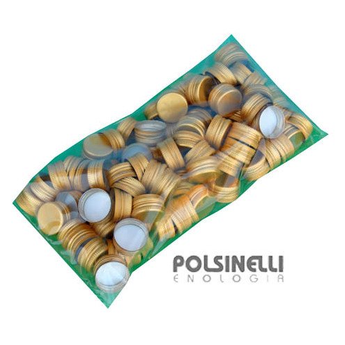 Tapón de rosca pre-roscado  dorado ⌀35 (100 pzas)