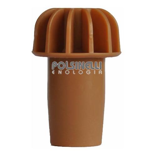 Tapón tipo hongo liso marrón con aletas
