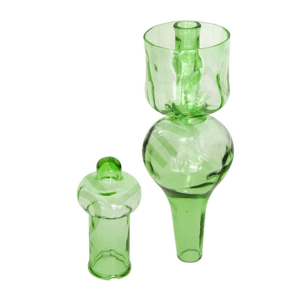 Tapa llenadora de vidrio grande para barriles - Verde