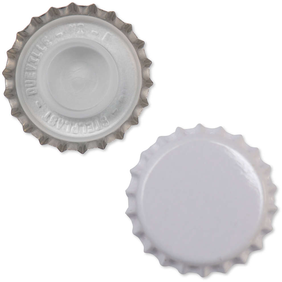 Tappo a corona bianco con bidule  ⌀29 (200 pz)