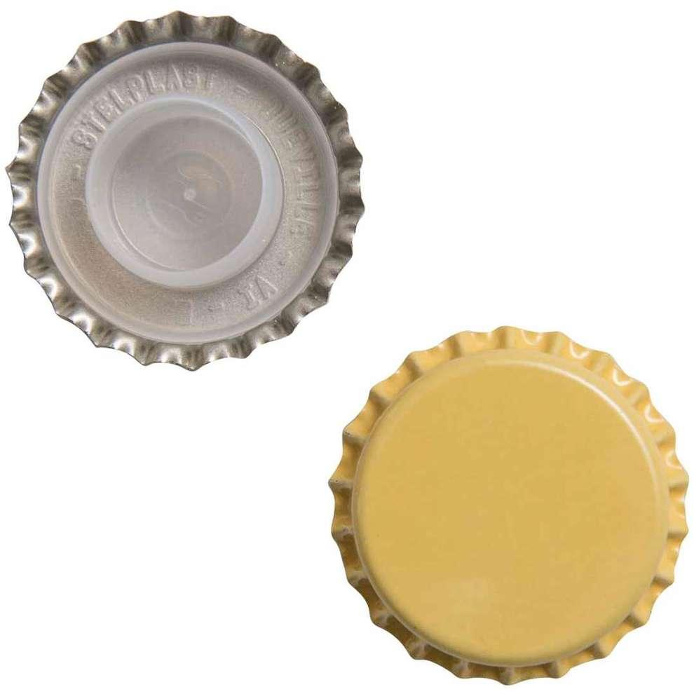 Tappo a corona giallo con bidule ⌀29 (200 pz)
