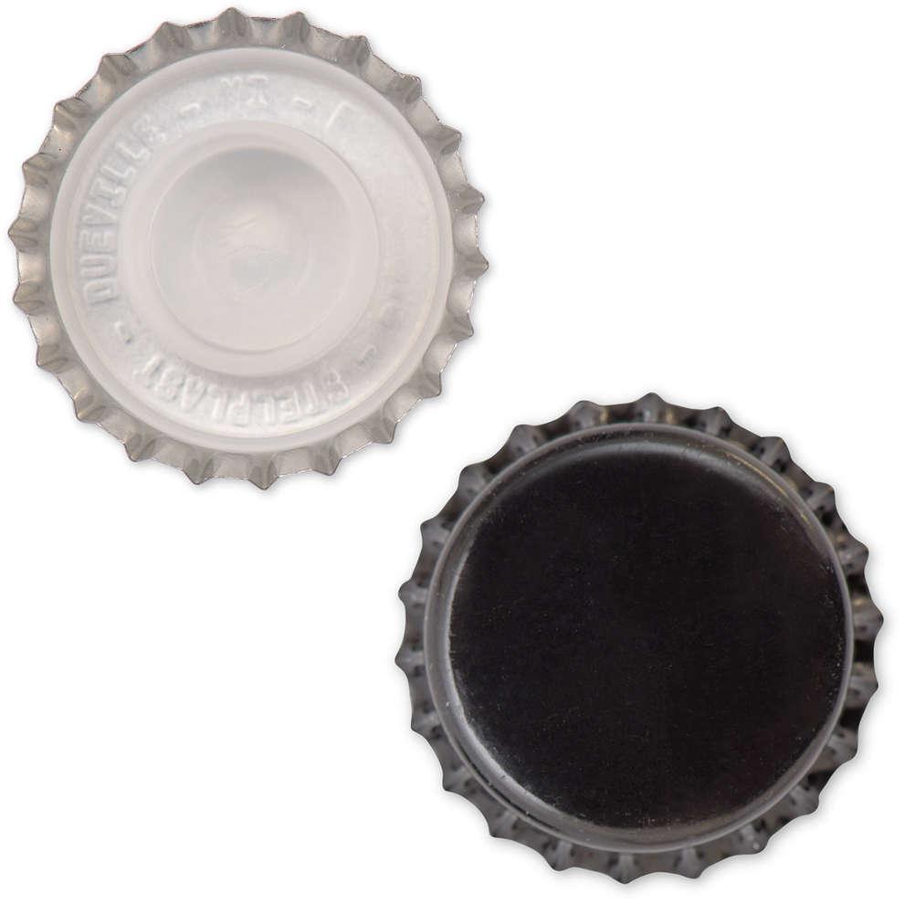 Tappo a corona nero con bidule  ⌀29 (200 pz)