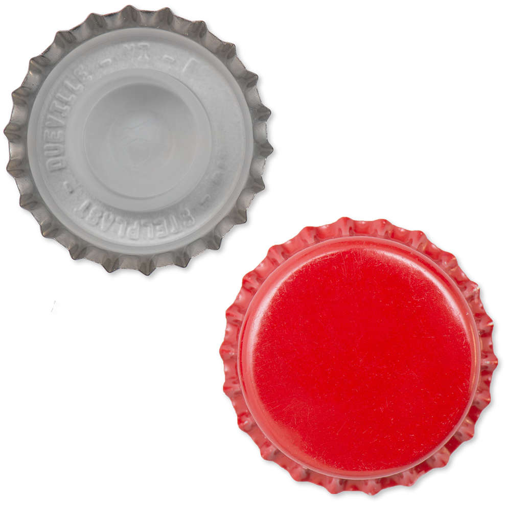 Tappo a corona rosso con bidule  ⌀29 (200 pz)