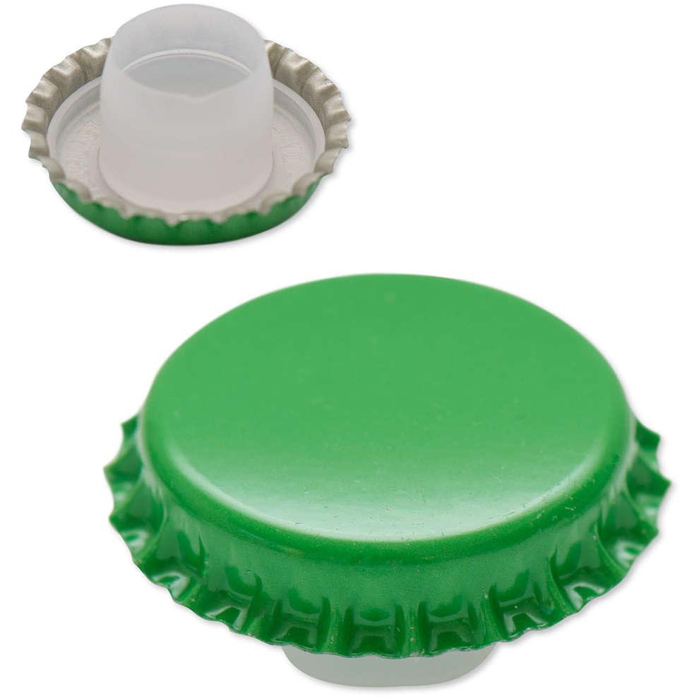 Tappo a corona verde con bidule  ⌀29 (200 pz)