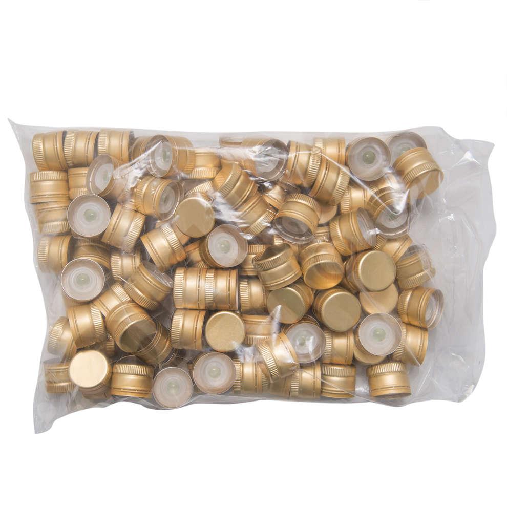 Tappo a vite antirabbocco con salvagoccia Oro ø 31,5 (100 pz)