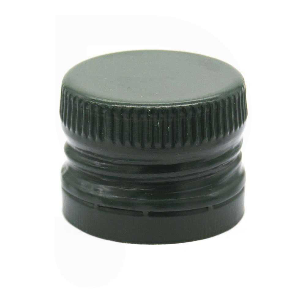 Tappo a vite bipezzo prefilettato verde con salvagoccia ⌀31,5 (100 pz)