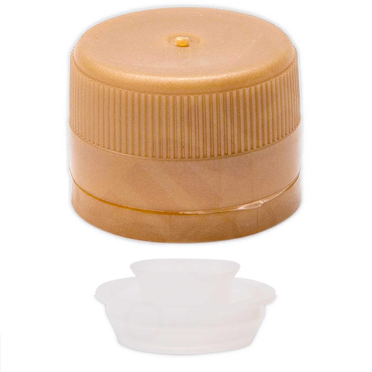 grande sconto negozi popolari il più votato a buon mercato Tappo a vite in plastica con salvagoccia dorato ⌀31,5 (100 pz)