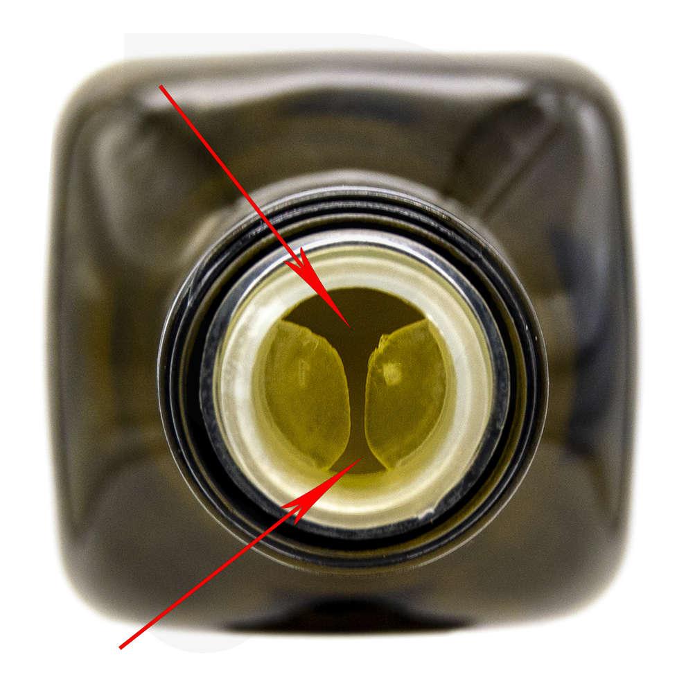 Tappo a vite in plastica Multidosing con salvagoccia nero ⌀31,5 (100 pz)