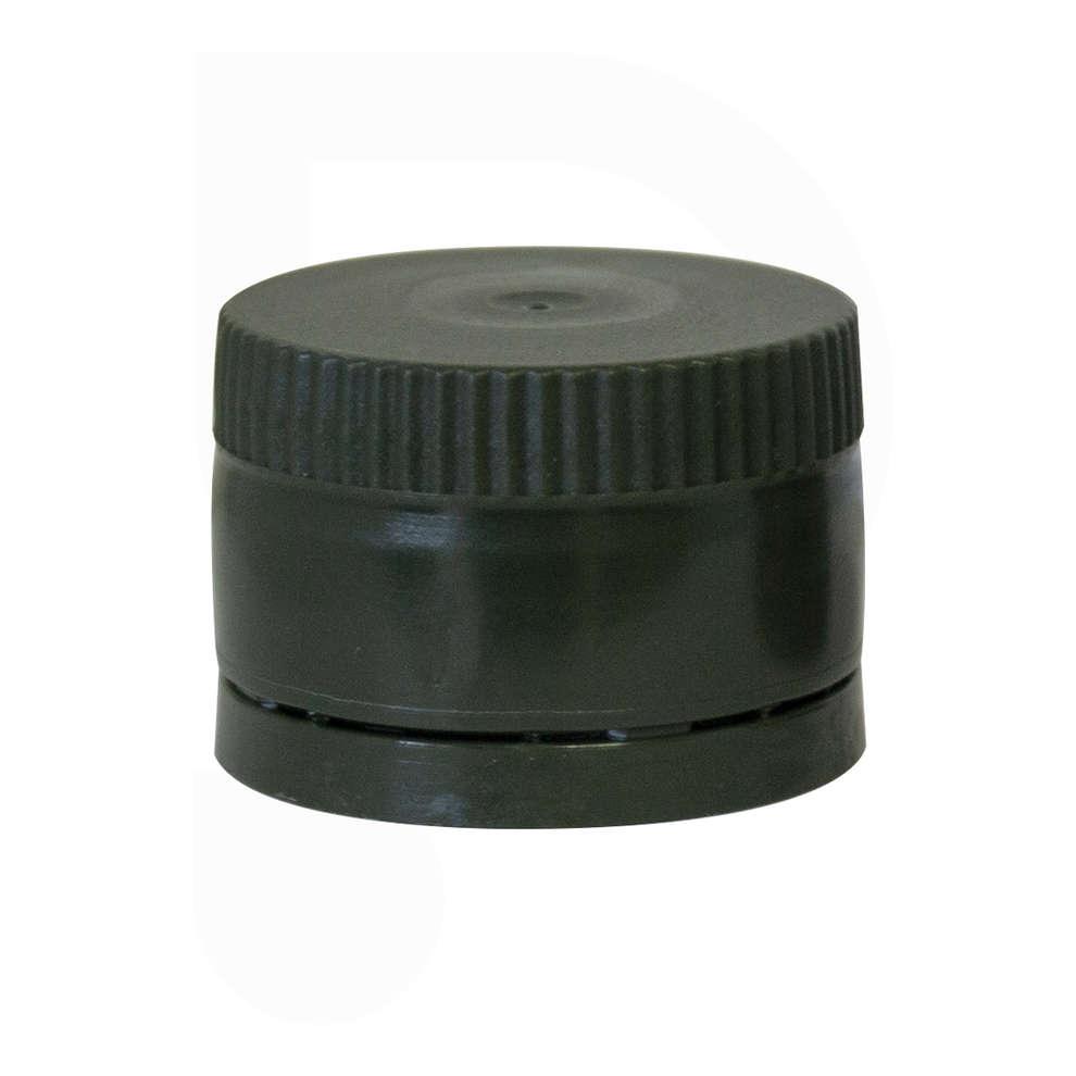 Tappo a vite in plastica Multidosing con salvagoccia verde ⌀31,5 (100 pz)